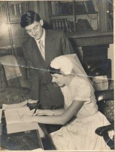 Sid & Judy's wedding-signing register