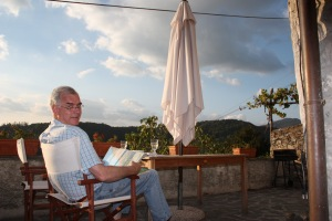 Tranquility on a balcony in Lunigiana