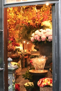 Entering a Parisian Flower shop - pleasurably tempting and a sensual experience of colours and scents.