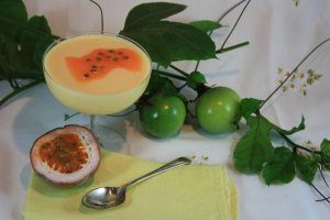Decorate with a little passionfruit pulp.