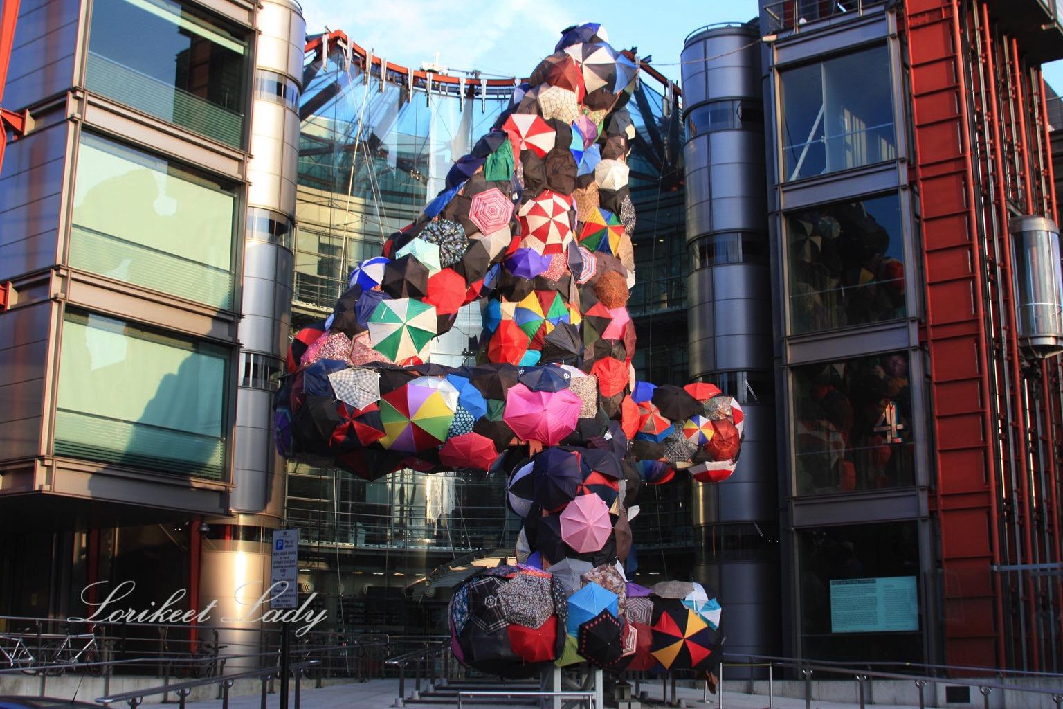 BBC 4 umbrella sculpture