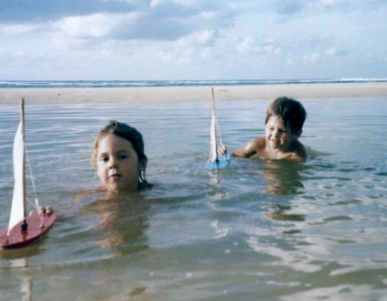 Playing in the lagoon at Straddie